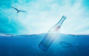 海のボトル